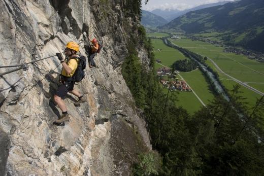 Klettersteig Zimmereben bei Mayrhofen, Zillertaler Alpen, Tirol, Österreich - Bild: Mayrhofen