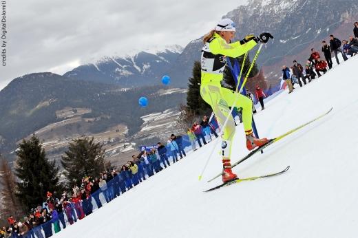 Val di Fiemme: Tour de Ski 2011, Spannung beim Aufstieg Foto:Digital Dolomit