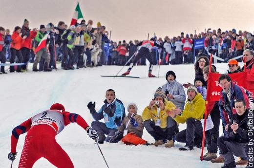 Val di Fiemme: Tour de Ski 2011, Publikum feuert an, Foto:Digital Dolomiti