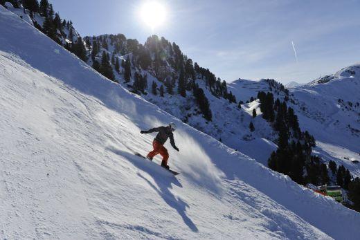 Snowboarder auf der Harakiri - Bild: Mayrhofen