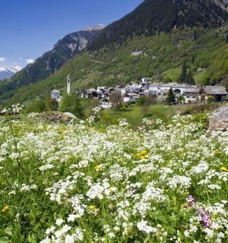 Bergell, Via Bregaglia, Frühling in Soglio - Foto: Bregaglia Engadin Turismo