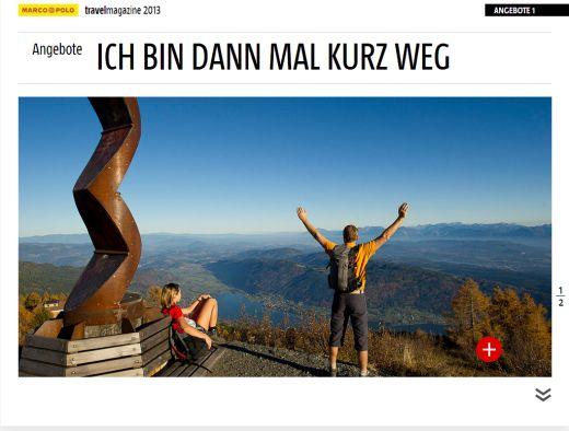 "MARCO POLO travel magazine mit dem ""Alpe-Adria-Trail"" - Fotocredit: MAIRDUMONT"