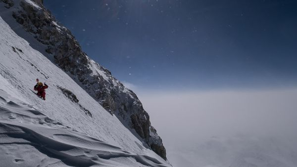 Tomek Mackiewicz of the polish team at about 7200m - Fotocredit: The North Face