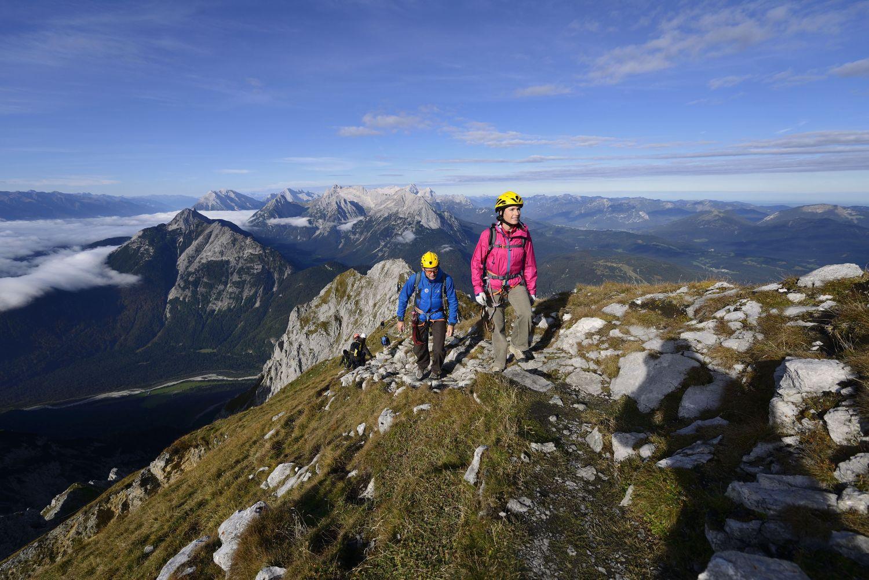 Klettersteig Outfit : Klettersteig tour in den alpen mittenwalder