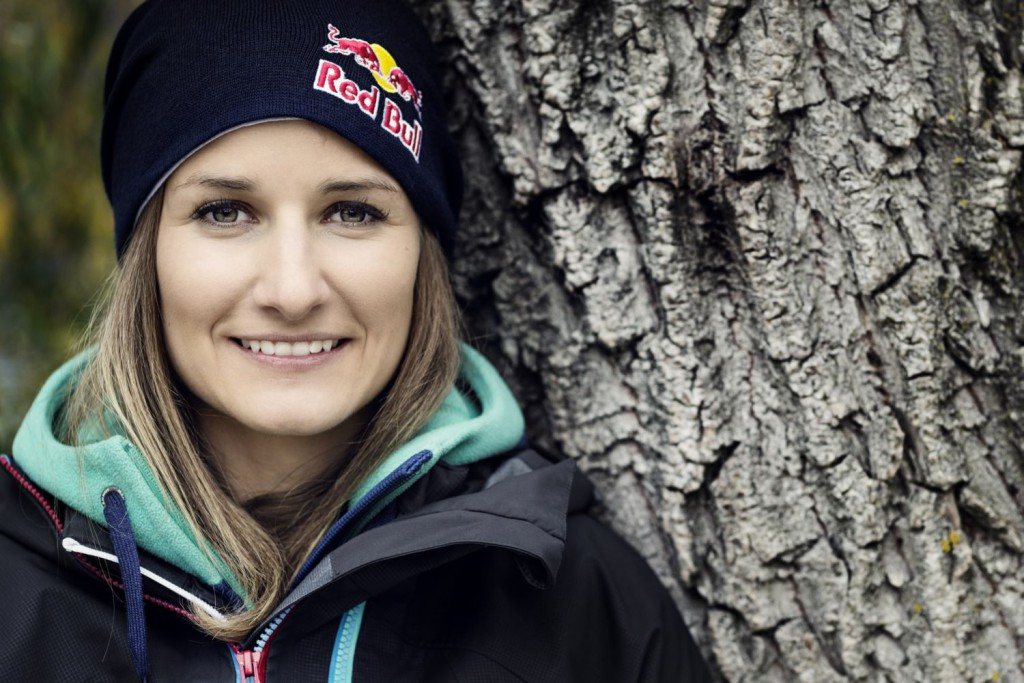 Nadine Wallner poses for a portrait during a photo shoot in Fuschl am See, Austria on October 29th, 2013 // Markus Berger / Red Bull Content Pool