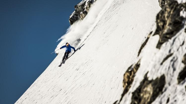 Nadine Wallner sets some fresh powder turns at Soelden Glacier, Austria, November 13th, 2013 // Christoph Schöch/Red Bull Content Pool