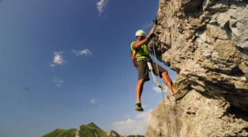 Klettern im Tannheimer Tal; Fotocredit: TVB Tannheimer Tal